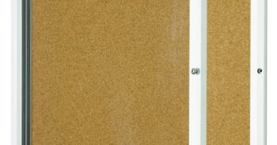 lockable cork board