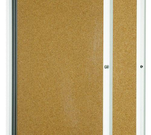 lockable cork board